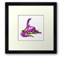 Illustration of an Iguanodon showing off her natural beauty. Framed Print