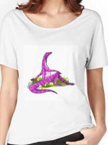 Illustration of an Iguanodon showing off her natural beauty. Women's Relaxed Fit T-Shirt