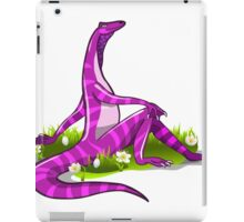 Illustration of an Iguanodon showing off her natural beauty. iPad Case/Skin