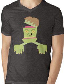 Franken Zombie Mens V-Neck T-Shirt