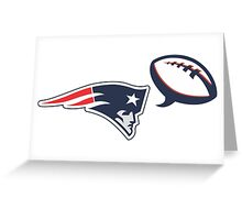 patriots says football Greeting Card