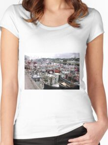 Traffic Jam - Greencastle Co. Donegal Ireland Women's Fitted Scoop T-Shirt