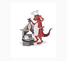 Illustration of a Tyrannosaurus Rex chef cooking. Unisex T-Shirt