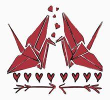 Origami birds One Piece - Short Sleeve