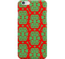 Audrey Red Green Pattern iPhone Case/Skin