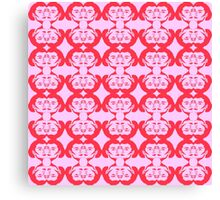 Audrey Red Pink Pattern Canvas Print