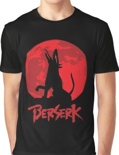 Berserk Wolf Full Moon Graphic T-Shirt