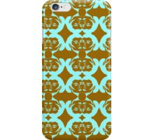 Audrey Turquoise Brown Pattern iPhone Case/Skin