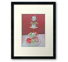 Tea & Peonies  Framed Print