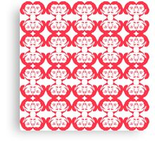 Audrey Red White Candy Cane Pattern Canvas Print