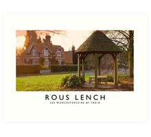 Rous Lench (Railway Poster) Art Print