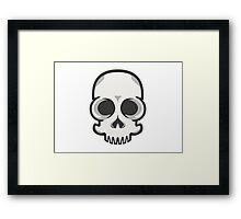 Friendly Vector Skelly Head Framed Print