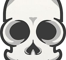 Friendly Vector Skelly Head by Mike Harris