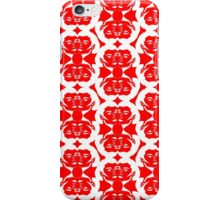 Audrey Ruby Red White Pattern iPhone Case/Skin