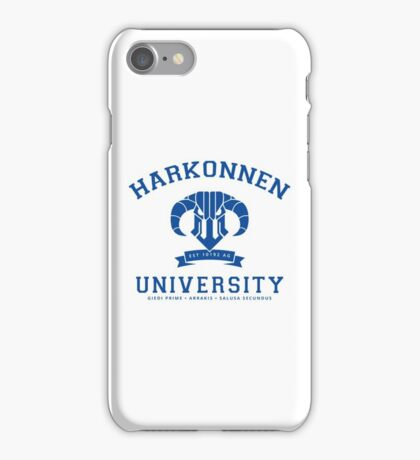 Harkonnen University | Blue iPhone Case/Skin