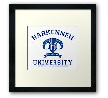 Harkonnen University | Blue Framed Print