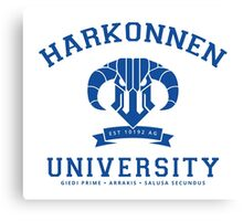Harkonnen University | Blue Canvas Print