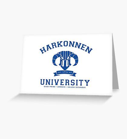 Harkonnen University | Blue Greeting Card