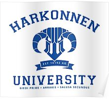 Harkonnen University | Blue Poster