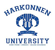 Harkonnen University | Blue Photographic Print