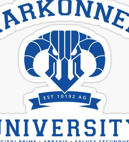 Harkonnen University   Blue Sticker