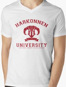 Harkonnen University | Red Mens V-Neck T-Shirt