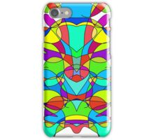 Colorful Abstract Symmetrical Curves  iPhone Case/Skin