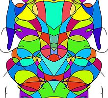 Colorful Abstract Symmetrical Curves  by colortrix