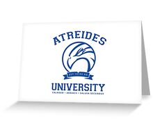 Atreides University | Blue Greeting Card