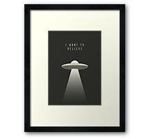 X Files - I Want To Believe Framed Print