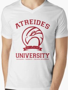 Atreides University | Red Mens V-Neck T-Shirt