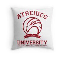 Atreides University   Red Throw Pillow