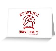 Atreides University | Red Greeting Card