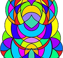 Colorful Abstract Symmetrical Curves - The Bearded Rabbit by colortrix