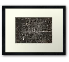 Beijing map ink lines Framed Print