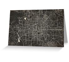 Beijing map ink lines Greeting Card