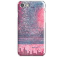 Town and the storm, pink, gray, blue iPhone Case/Skin