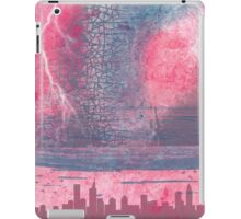 Town and the storm, pink, gray, blue iPad Case/Skin