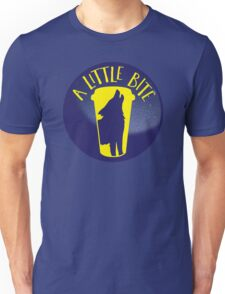 A little bite (3) with werewolf on a circle Unisex T-Shirt