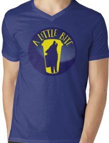 A little bite (3) with werewolf on a circle Mens V-Neck T-Shirt