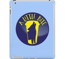 A little bite (3) with werewolf on a circle iPad Case/Skin