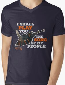 I Shall Play You The Song of My People - Monster Hunter Mens V-Neck T-Shirt