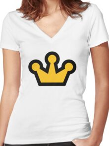 Royal Crown Women's Fitted V-Neck T-Shirt