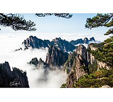 Window through Huangshan Trees Photographic Print