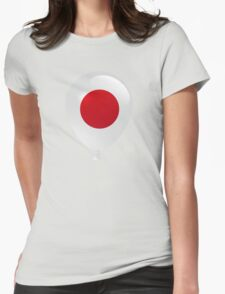 Japanese flag Womens Fitted T-Shirt