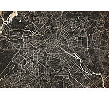 Berlin map ink lines Photographic Print