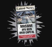 Latest News - UFO Over Capital Kids Tee