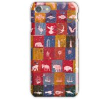 Life in the squares, colors, animals, planes, spaceships, ships iPhone Case/Skin