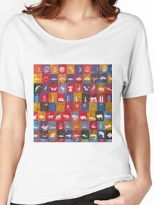 Life in the squares, colors, animals, planes, spaceships, ships Women's Relaxed Fit T-Shirt