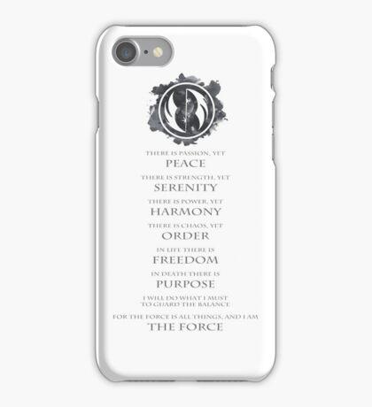 Gray Jedi Gray Lettering  iPhone Case/Skin
